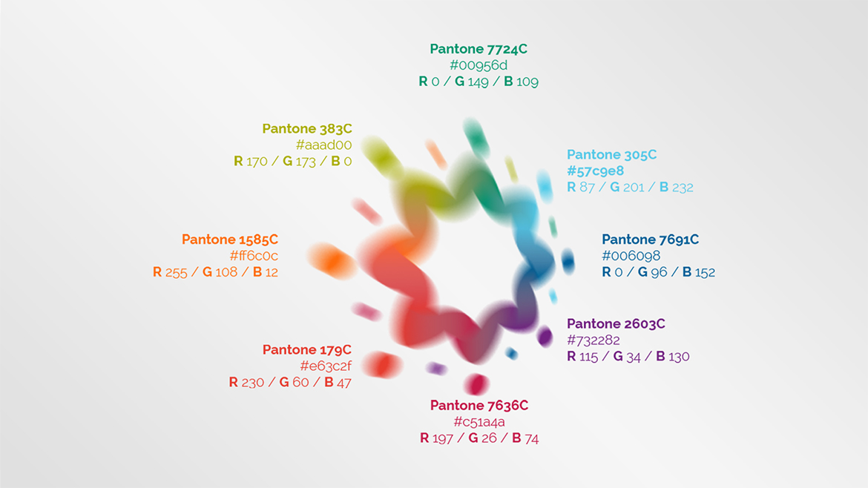 Paleta de cores da marca