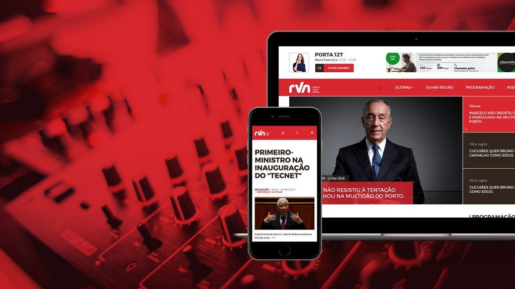 Website Rádio Vila Nova