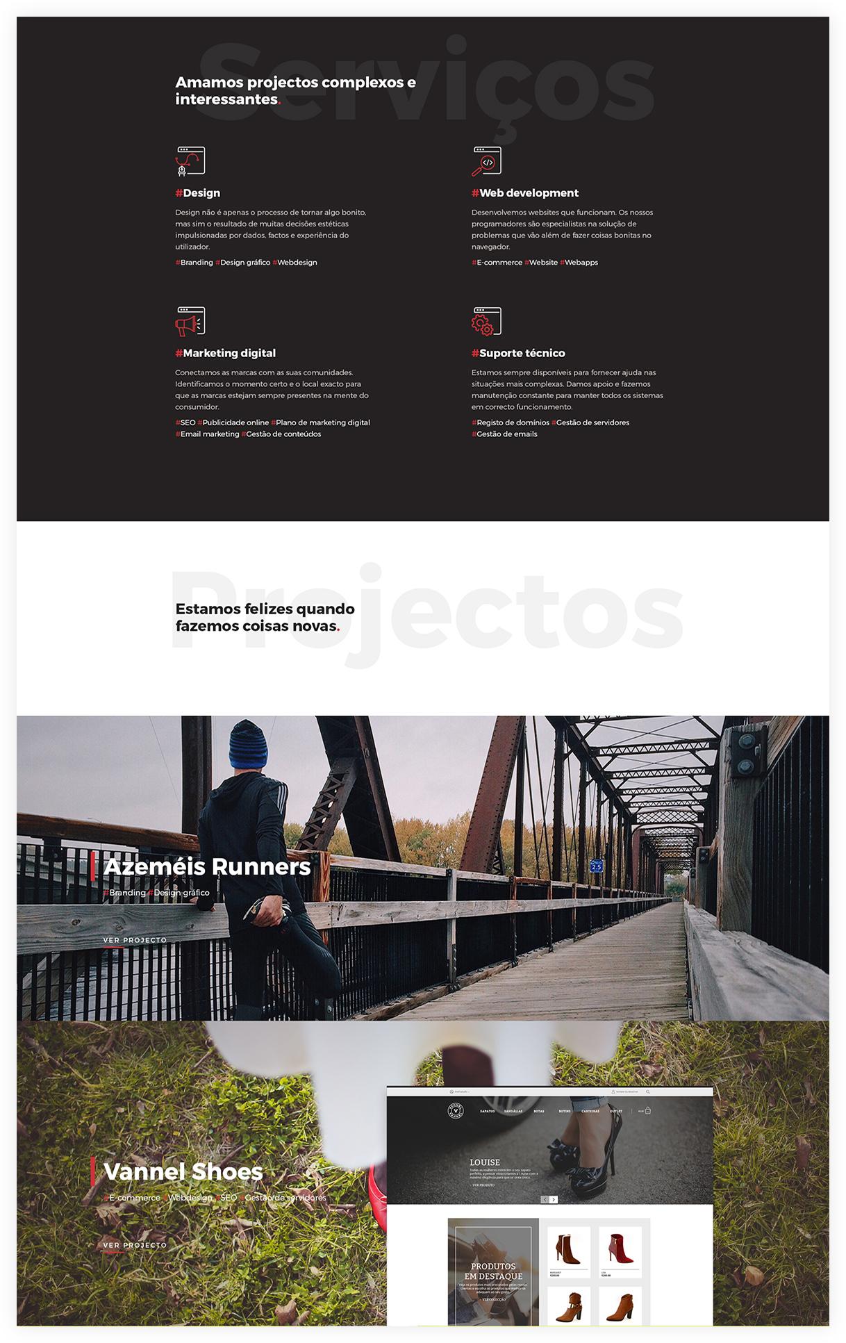 Web design no Porto