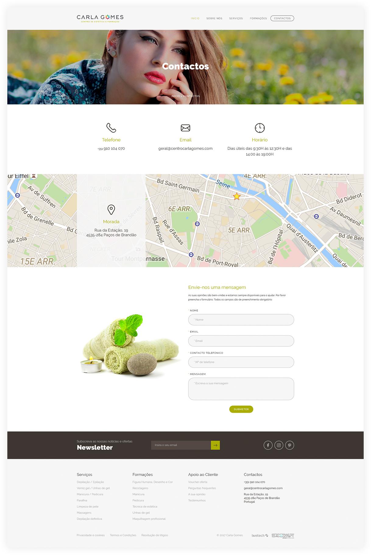 Contactos de Empresas de Desenvolvimento de Websites