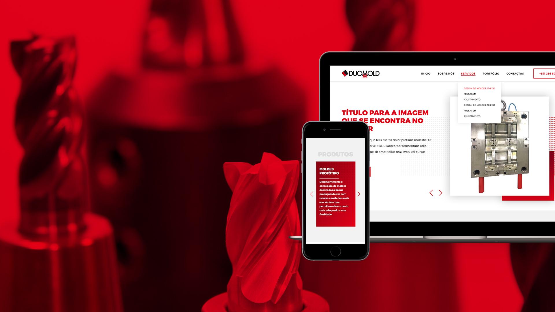 Website empresa de moldes