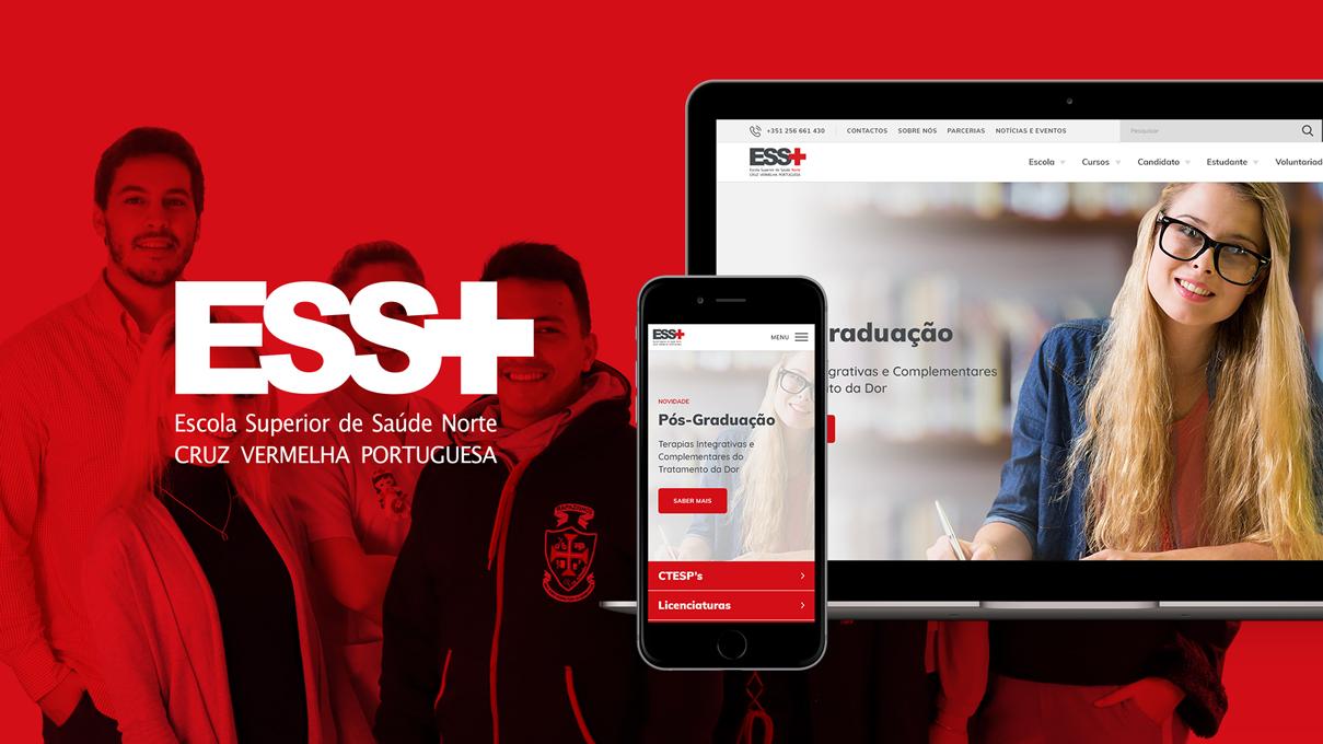 Website Design Gráfico Escola Superior de Saúde